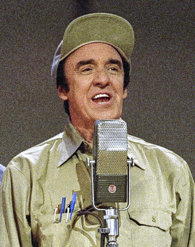 """FILE - In this May 7, 1992 file photo, Jim Nabors, a cast member from """"The Andy Griffith Show,"""" appears in Nashville, Tenn.  Nabors died peacefully at his home in Honolulu on Thursday, Nov. 30, 2017, with his husband Stan Cadwallader at his side. He was 87. (AP Photo, File)"""