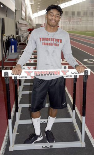 Tribune Chronicle / John Vargo Youngstown State's Collin Harden is anxious to see improvement in his sophomore season of track and field.