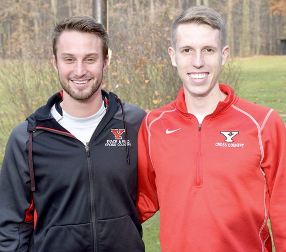 Tribune Chronicle / John Vargo Youngstown State distance runners Alan Burns, left, from Boardman, and Ryan Sullivan, from Howland, are rested and healthy for the indoor track and field season.