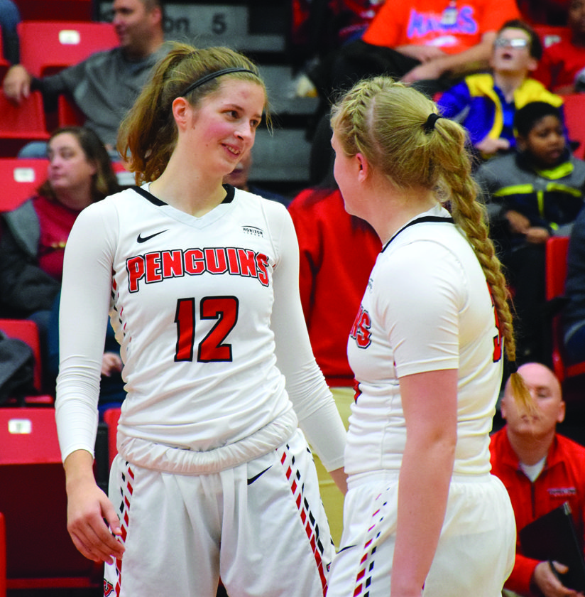 Tribune Chronicle file / John Vargo The Youngstown State women's basketball team, including freshmen Chelsea Olson, left, and McKenah Peters, begin Horizon League play Thursday at home against Detroit Mercy.