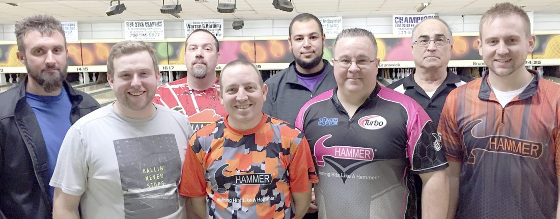 Special to Tribune Chronicle The field for the finals of the 39th Warren Challenge bowling tournament scheduled today at Cortland Lanes includes, from left, Rich Speicher, Tom Harcarik, Mike Benton, Bob Haynie, James Nolen, Adam Barta, Joe Nuzzo and Mark Lias. The finalists were the top eight qualifiers after 18 games of qualifying.