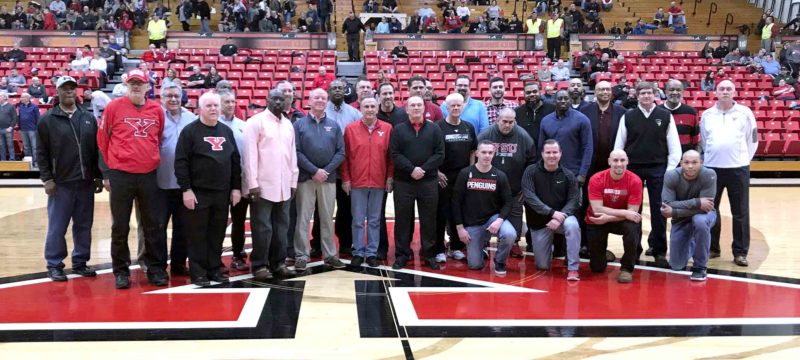 Special to Tribune Chronicle / Youngstown State University Former players and other former YSU men's basketball personnel gathered Saturday in Youngstown.