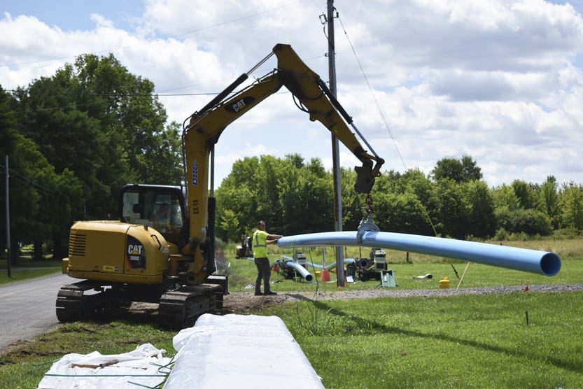 Blueprint construction takes off news sports jobs tribune inc of cleveland readies water pipes tuesday to lay alongside braceville robinson road in braceville the work is part of the 15 million blueprint malvernweather Image collections