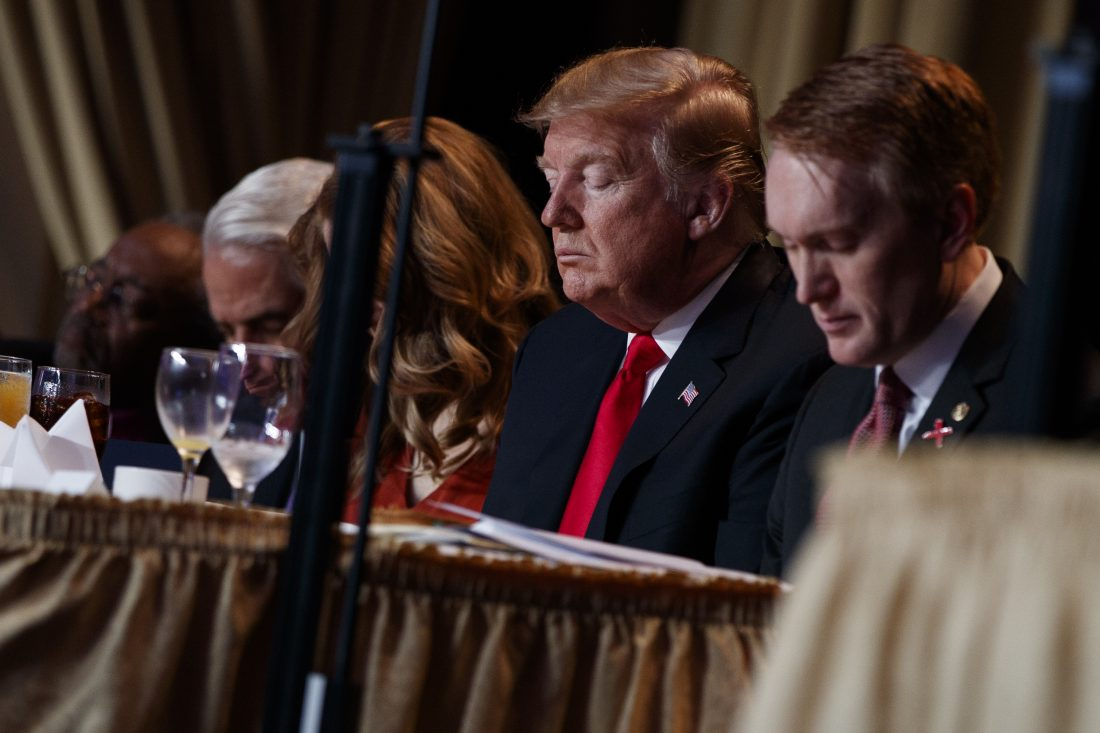 Trump speaking at National Prayer Breakfast