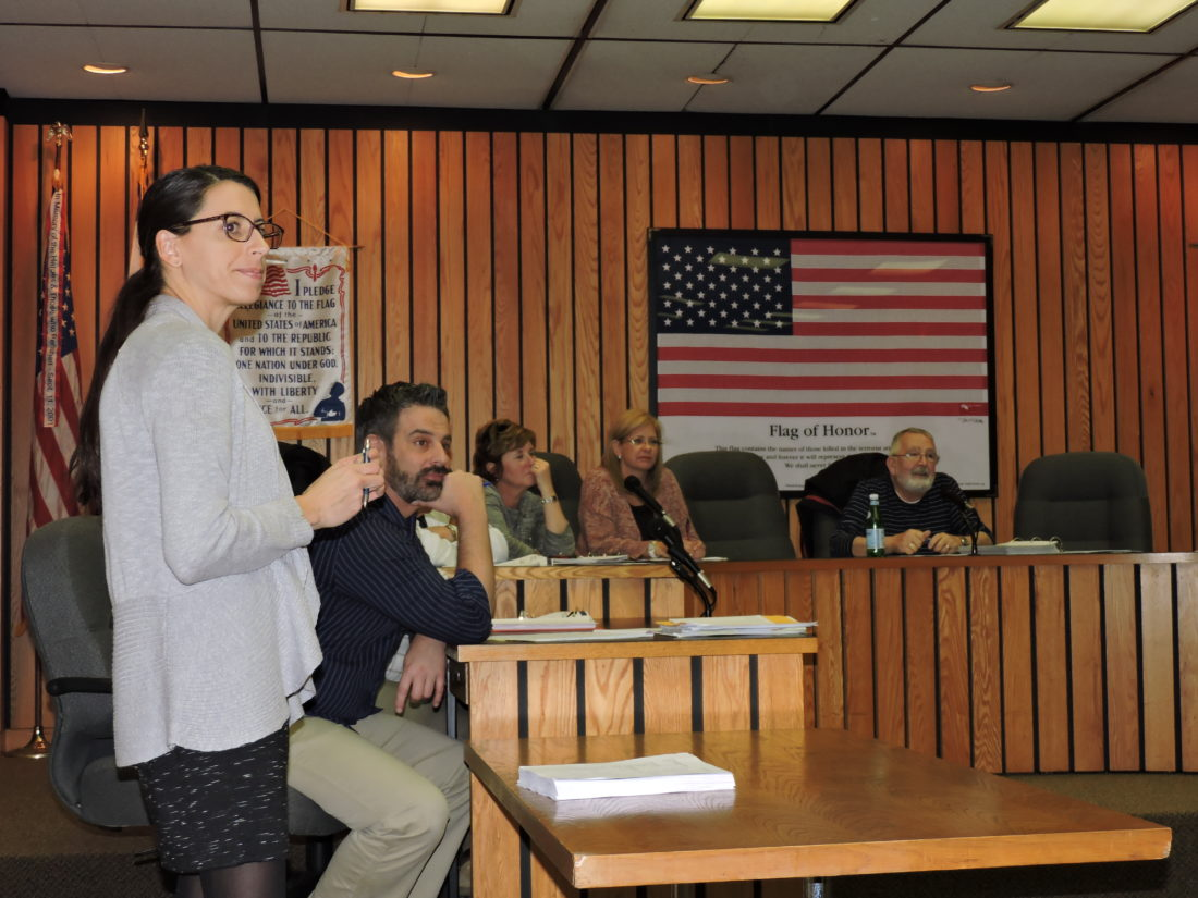 PLAN DISCUSSED — Amy Wiles, lead senior planner with Mackin Engineering, and Weirton Planning and Development Director Mark A. Miller, along with members of the Weirton Planning Commission, listen to discussions Wednesday of ideas for updating the city's comprehensive development plan. Over the next 10 months, Mackin will be working to update the plan, which was put in place in 2000. -- Craig Howell