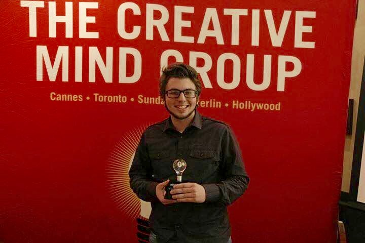 "BEST CINEMATOGRAPHY — Mikey D'Amico of Weirton is the youngest person to win the Best Cinematography Award at the Sundance Film Festival's Creative Mind Group competition for his film ""The SunDANCE."" -- Contributed"