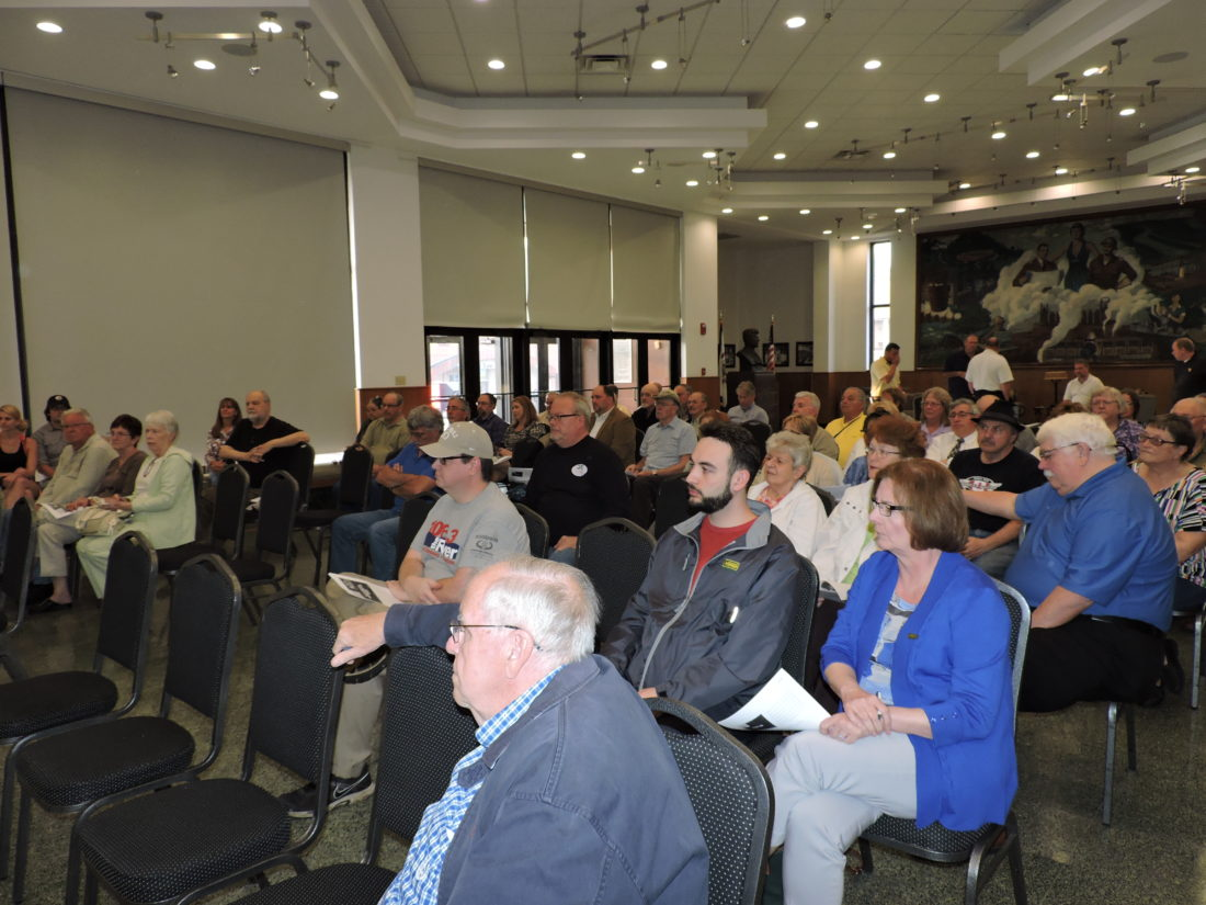 INPUT — More than 70 area residents were in attendance Wednesday as consultants and city officials sought feedback on the hopes for the future of Weirton as part of efforts to update the city's Comprehensive Development Plan. The town hall was the first of four planned public input sessions. -- Craig Howell