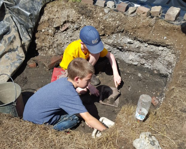 Area pupils experienced finding artifacts in the archaeology dig during the 2016 Summer Youth Educational Program at Historic Fort Steuben. — Dave Gossett
