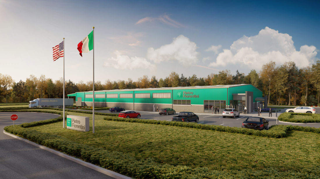 An artist's rendering shows a design concept for the future home of Pietro Fiorentini USA in Weirton. The new factory, with a planned investment of $5.5 million and an initial 45 jobs, will be located in the Three Springs Business Park. It is set to open in the spring of 2018. -- Contributed
