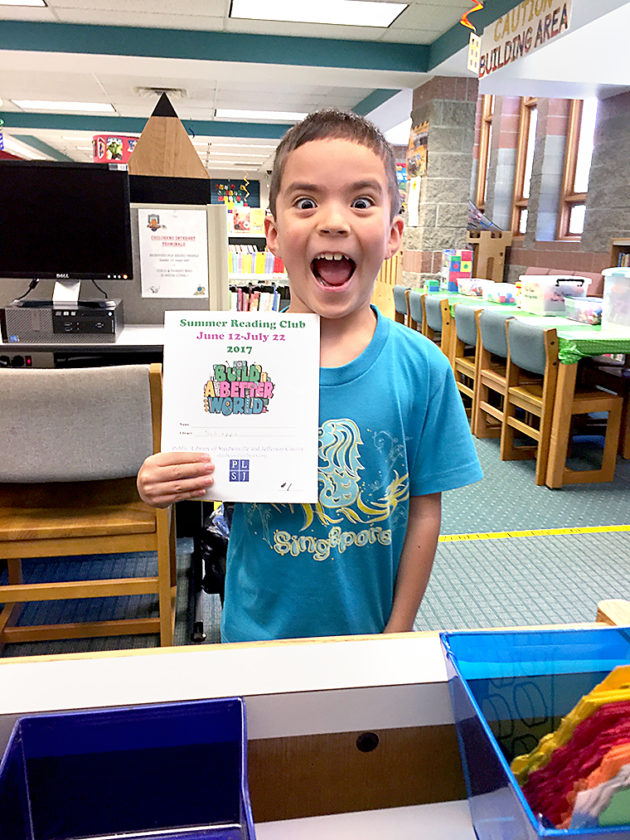 Benedict Gan, 7, was the first person to  register at the  Schiappa branch.  -- Contributed
