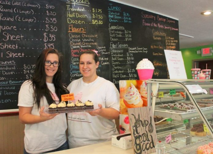 DREAM COME TRUE — Gabie Clark, left, and her mother, Alexandria, are realizing their dreams by opening the Sugar Rushed Bakery at 1409 Sinclair Ave. in Steubenville and plan to hold a grand opening Saturday.  -- Contributed