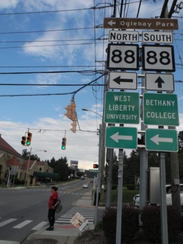 RENOVATIONS — West Virginia Division of Highways contractors will soon begin road and sidewalk renovations along state Route 88. -- Casey Junkins
