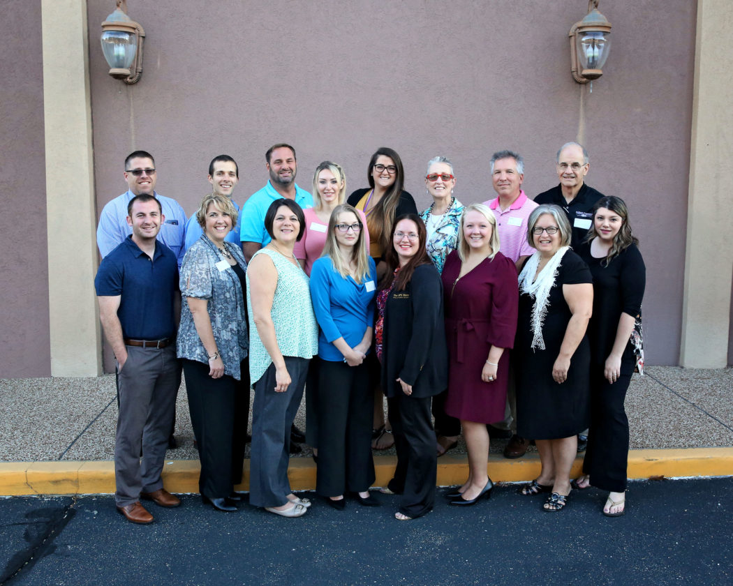 LOCAL CHAPTER —  Among the members of the recently formed local chapter of Business Networking International are, front, from left, Taylor Cain, Christy Holmes, Nicole Adamski, Jennifer Brown, Stephanie Rivers, Kate Sedgmer, Tina Thompson and Brandi Birkenhimer; and back, Cory Wingett, Dan McBane, Chris Orris, Janice Becker, Alexandra Martin, Jamie Copenhaver, Len Reynolds and Tom Maedke.