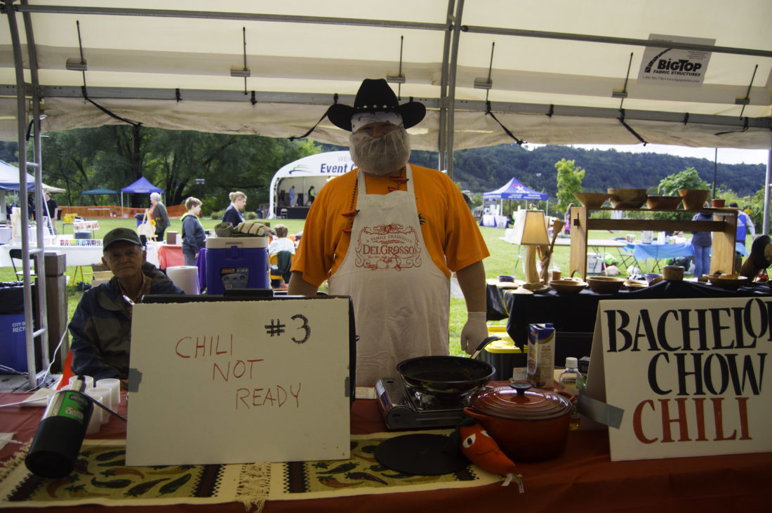 CHILI COOKOFF — Christopher Smith, of Weirton, was among participants in 2016's Red Hot in Hancock chili cookoff event. This year's event is set for noon to 4 p.m. Saturday at the Weirton Event Center. Admission is free.  -- Contributed