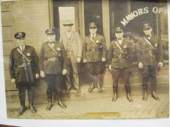 Contributed MINGO JUNCTION OFFICERS — The Mingo Junction Police Department was founded on Feb. 20, 1883. This picture was taken in the early 1900s and is part of the photo history of the department. Today, Joe Sagun, a 25-year officer, is the chief of the department.