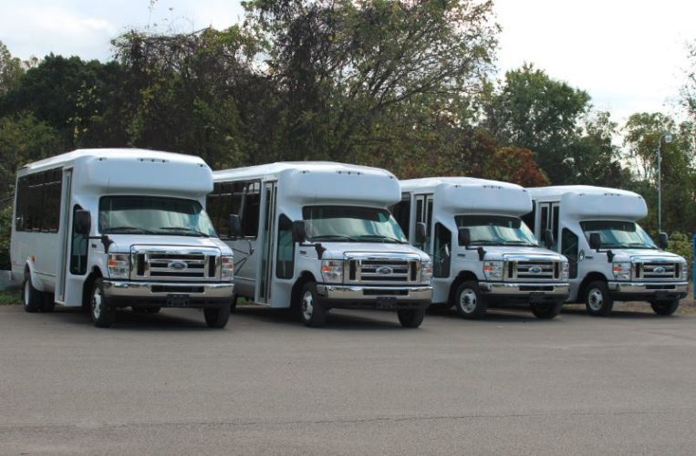VANS ADDED — Jeffco Services has added four vans to its fleet. the vehicles were acquired with the held of an Ohio Department of Transportation Specialized Transportation grant.