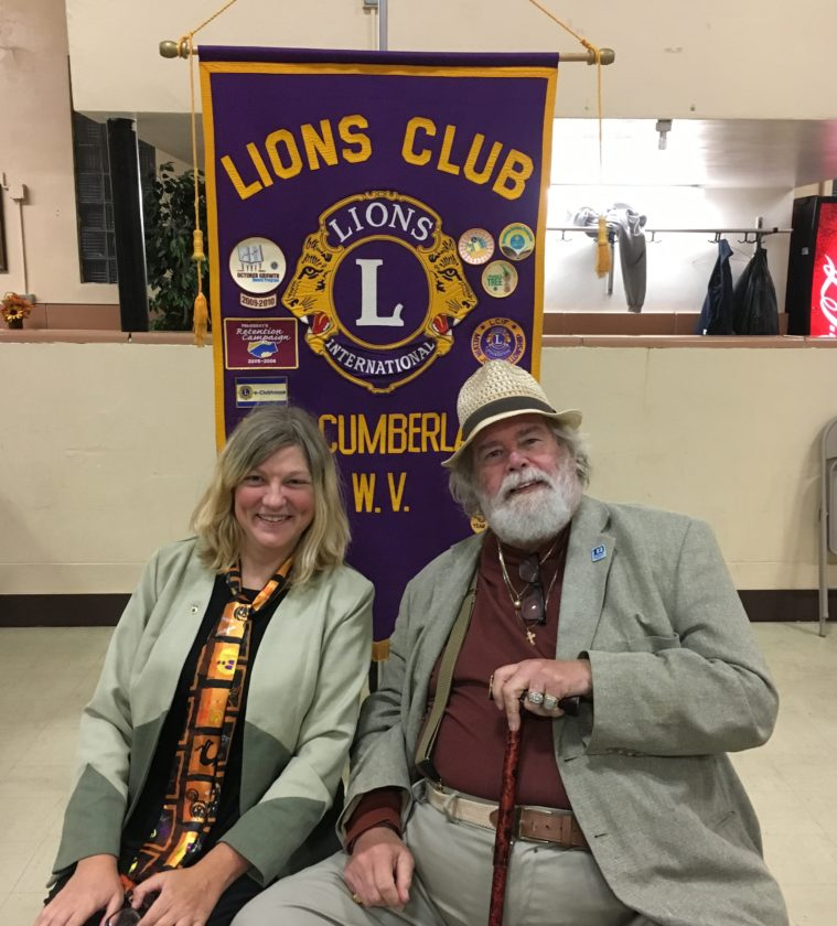 NEWLION — Patty Burgess recently became a new member of the New Cumberland Lions Club and was sponsored by Kelsey Hayward. -- Contributed