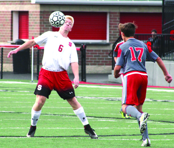 Delelles is Div. II Player of the Year Steubenville's Ryan Delelles plays against St. Clairsville in a sectional contest on Oct. 21. Delelles was named the Division II boys soccer player of the year. (Photo by Joe Catullo)