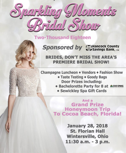 Join us for the 2018 Sparkling Moments Bridal Show!