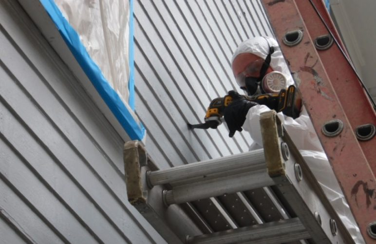 GETTINGITREADY — An individual works to weatherize a house as part of a programs offered through C.H.A.N.G.E., Inc. Applications currently are being accepted for the Weatherization Assistance Program and the No Heat Emergency Program. -- Contributed
