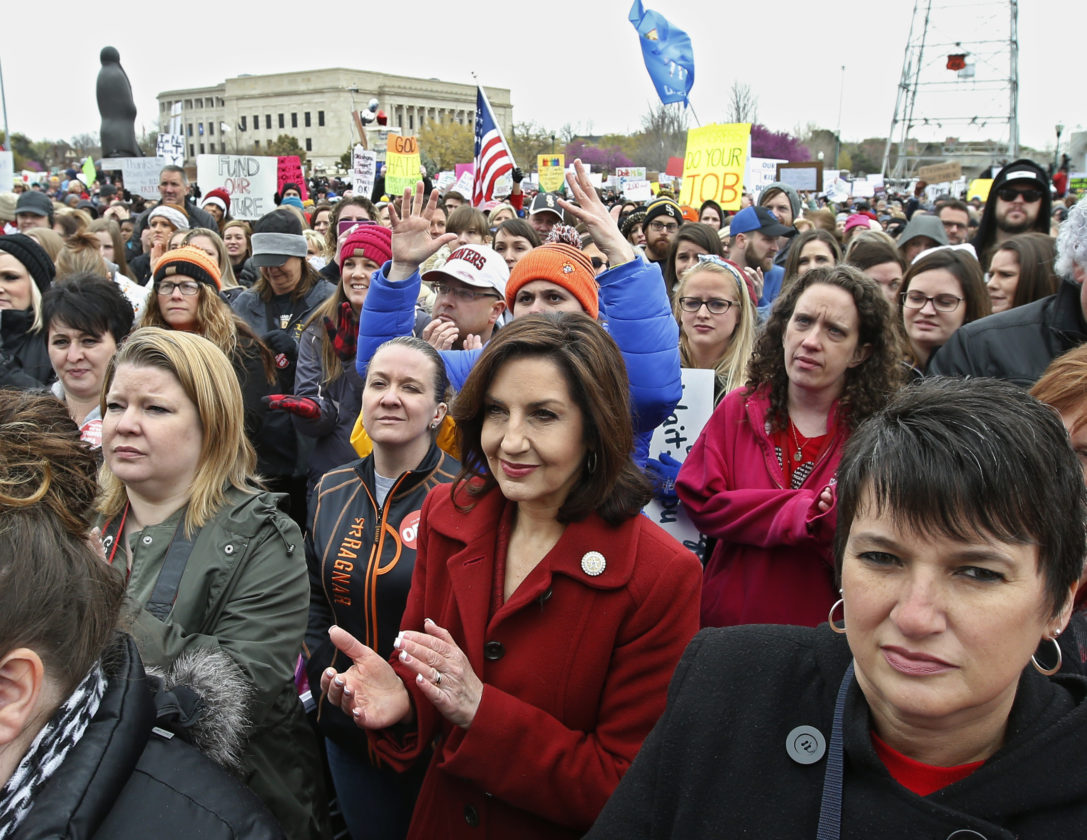 Teachers rally Monday for education funding