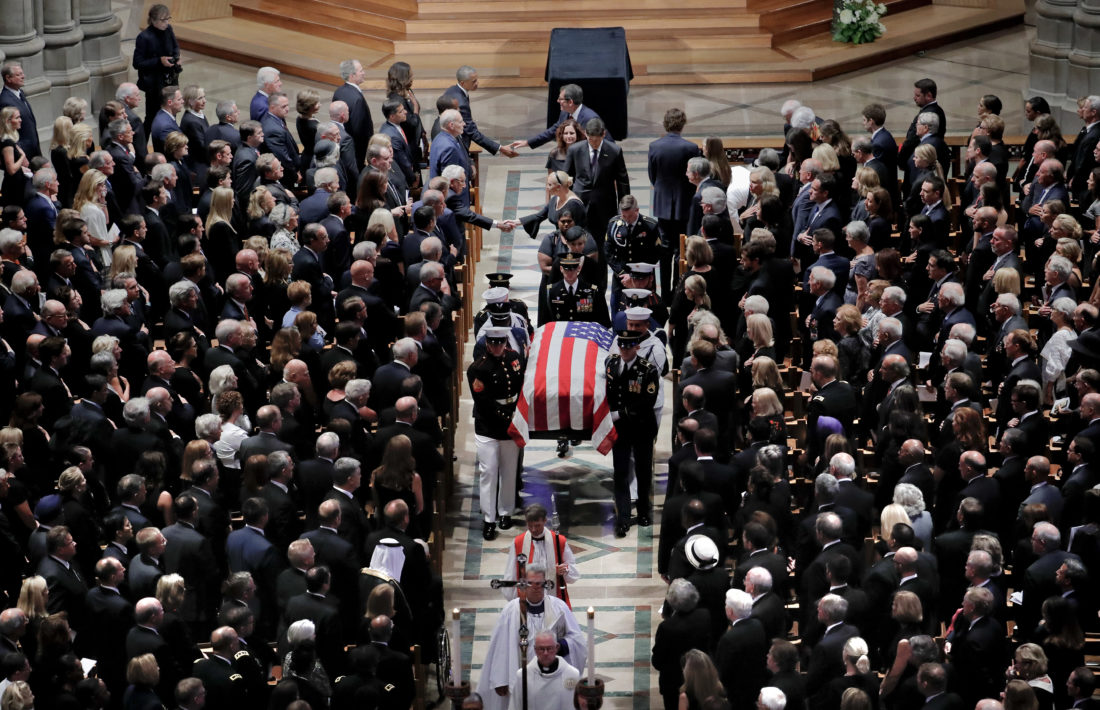 John McCain's friends defend Meghan McCain's Trump diss at funeral