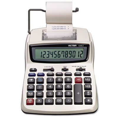 Victor 1208-2 Two-Color Compact Printing Calculator