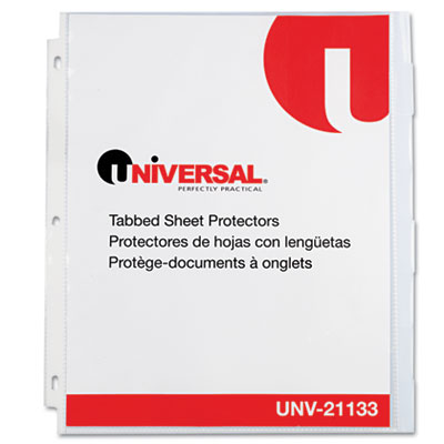 Universal One Heavy-Weight Sheet Protector with Index Tabs