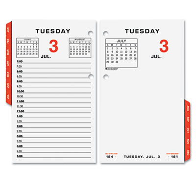 AT-A-GLANCE Two-Color Desk Calendar Refill