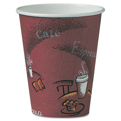 SOLO Cup Company Paper Hot Drink Cups in Bistro Design
