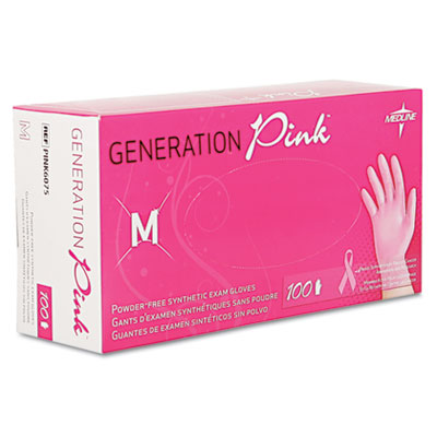 Medline Generation Pink Vinyl Gloves