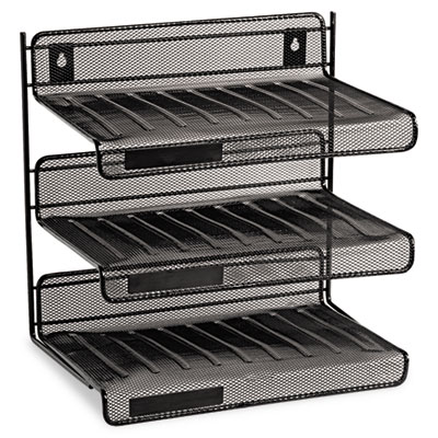 Rolodex Mesh Three-Tier Desk Shelf