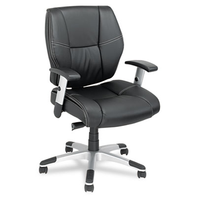 Alera Napoleon Series Mid-Back Multifunction Petite Leather Chair