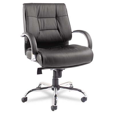 Alera Ravino Big and Tall Series Mid-Back Swivel/Tilt Leather Chair