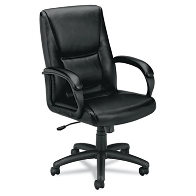 basyx VL161 Executive Mid-Back Leather Chair
