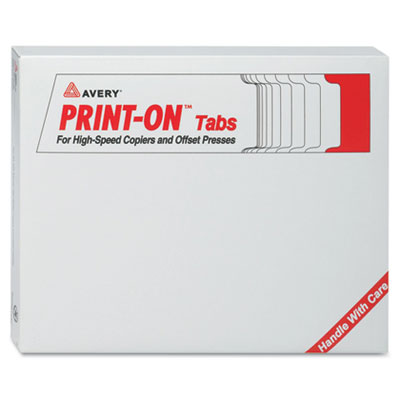 Avery Print-On Dividers with White Tabs for High Speed Copiers