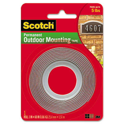 Scotch Permanent Heavy Duty Interior/Exterior Mounting Tape