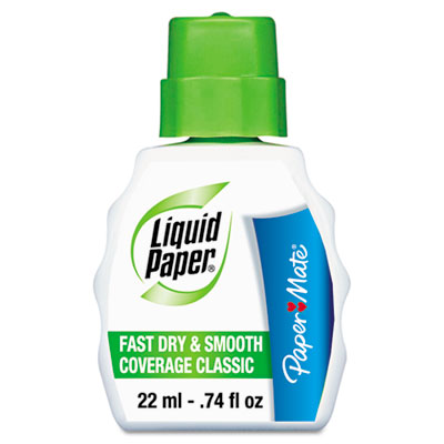 Paper Mate Liquid Paper Fast Dry and Smooth Coverage Classic Correction Fluid