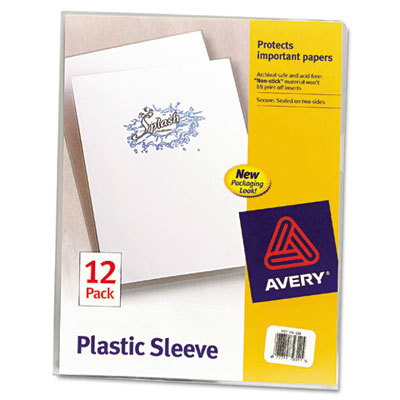 Avery Clear Polypropylene Plastic Sleeves