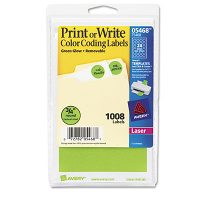 Avery Print or Write Removable Color-Coding Labels