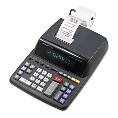 Sharp EL2196BL Two-Color Printing Calculator
