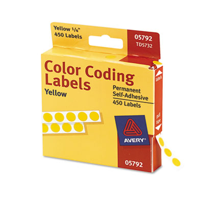 Avery Permanent Self-Adhesive Round Color-Coding Labels