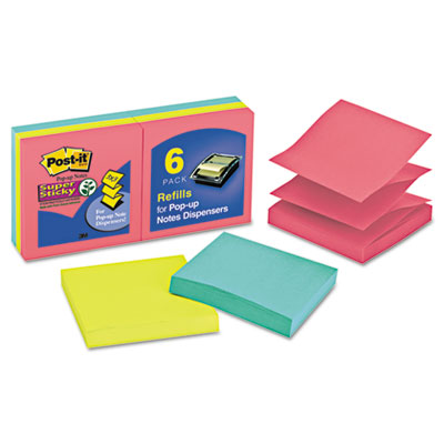 Post-it Pop-up Notes Super Sticky Pop-up 3 x 3 Note Refills