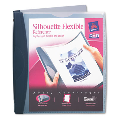 Avery Silhouette Flexible Non Stick View Binder with Round Rings
