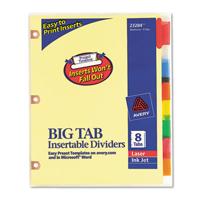 Avery Double Sided Reinforced WorkSaver Big Tab Insertable Paper Dividers