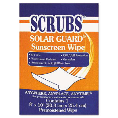 SCRUBS Solar Guard Sunscreen Towels 91201