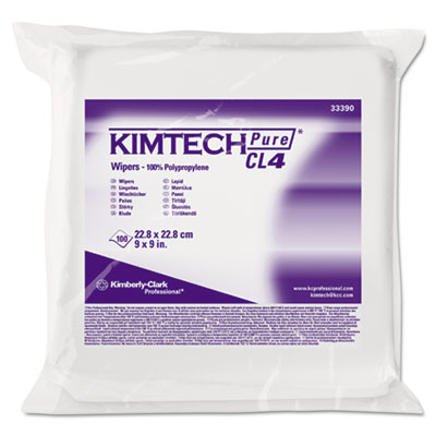KIMBERLY-CLARK PROFESSIONAL* KIMTECH PURE* CL4 Critical Task Wipers 33390