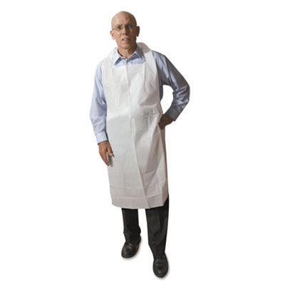 Atlantis Plastics Disposable Medium-Weight Soft Embossed Poly Aprons