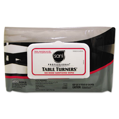 Nice Pak Table Turners No-Rinse Sanitizing Wipes