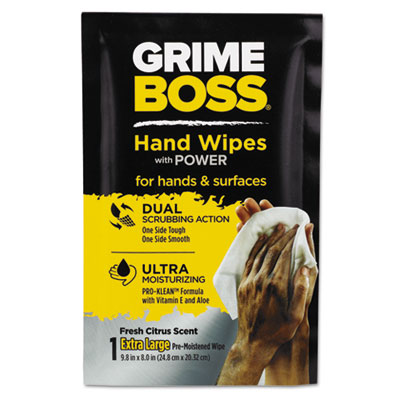 Nice Pak Grime Boss Heavy Duty Hand Cleaning Wipes